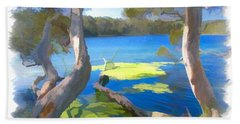 Wat-0002 Avoca Estuary Bath Towel by Digital Oil