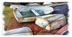 Wat-0012 Tender Boats Bath Towel by Digital Oil