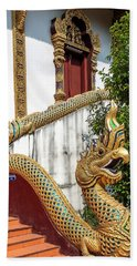 Bath Towel featuring the photograph Wat Chiang Chom Phra Wihan Naga Dthcm0892 by Gerry Gantt