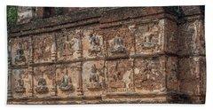 Wat Jed Yod Frieze Of Angels Or Deities On Maha Vihara Jedyod Dthcm0903 Bath Towel
