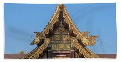Wat Jed Yod Gable Of The Vihara Of The 700 Years Image Dthcm0963 Hand Towel