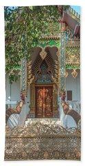 Wat Nam Phueng Phra Ubosot Entrance Dthla0012 Bath Towel