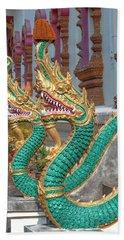 Wat Nam Phueng Phra Wihan Naga Guardians Dthla0007 Hand Towel