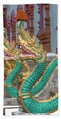 Wat Nam Phueng Phra Wihan Naga Guardians Dthla0007 Bath Towel
