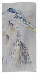 Bath Towel featuring the painting Watching by Mary Haley-Rocks