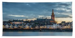 Watching The City Lights, Nijmegen Bath Towel