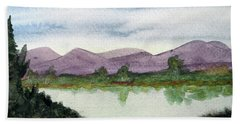 Water And Distant Hills Hand Towel by R Kyllo