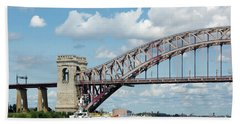 Hell Gate Bridge And Barge Hand Towel