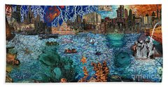 Water City Hand Towel by Emily McLaughlin