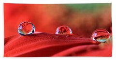 Water Drop Reflections Bath Towel by Angela Murdock