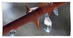 Water Droplets Bath Towel