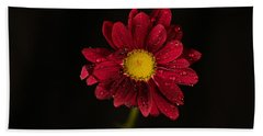 Hand Towel featuring the photograph Water Drops On A Flower by Jeff Swan