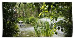 Hand Towel featuring the photograph Water Garden by Rebecca Davis