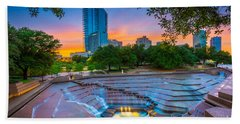 Water Gardens Sunset Hand Towel