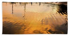 Bath Towel featuring the photograph Water Into Gold by Ronda Broatch