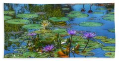 Water Lilies I Bath Towel