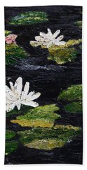Hand Towel featuring the painting Water Lilies IIi by Marilyn Zalatan