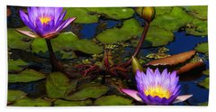 Water Lilies Iv Hand Towel