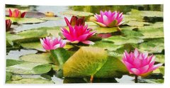 Water Lilies Hand Towel