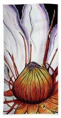 Hand Towel featuring the painting Water Lilly  by Jolanta Anna Karolska