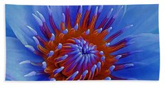 Water Lily Center Bath Towel by Pamela Walton