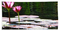 Hand Towel featuring the photograph Water Lily by Greg Patzer