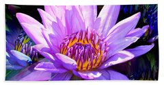 Water Lily In Purple Hand Towel