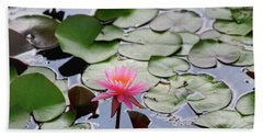 Water Lily In The Pond Hand Towel