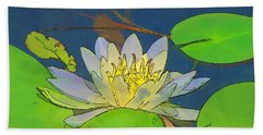 Water Lily Bath Towel by Maciek Froncisz