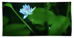 Water Lily N Pond Bath Towel