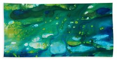 Hand Towel featuring the painting Water Movement by Tamyra Crossley