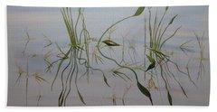Bath Towel featuring the painting Water Music by Joel Deutsch