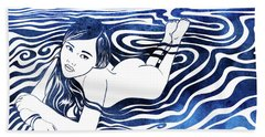 Water Nymph V Bath Towel