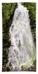 Water Roaring Down Cascade Falls, Farmington, Maine  -30377 Bath Towel