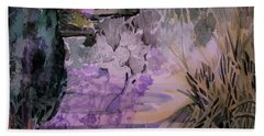 Bath Towel featuring the painting Water Sprite by Mindy Newman