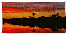 Winter Sunrise I Hand Towel