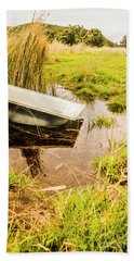 Water Troughs And Outback Farmland Hand Towel