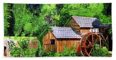 Water Wheel Hand Towel by Tom Riggs