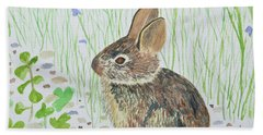 Watercolor - Baby Bunny Hand Towel