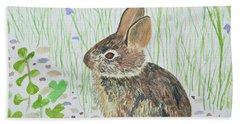 Watercolor - Baby Bunny Bath Towel