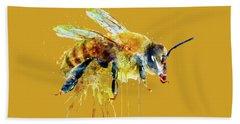 Watercolor Bee Hand Towel