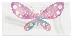 Watercolor Butterfly 1- Art By Linda Woods Bath Towel