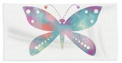 Watercolor Butterfly 3-art By Linda Woods Bath Towel