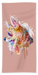 Watercolor Chihuahua  Bath Towel