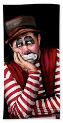 Watercolor Clown #28 Jim Howle Hand Towel