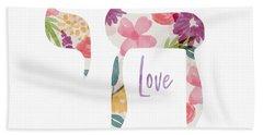 Watercolor Floral Chai Love- Art By Linda Woods Hand Towel