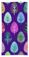 Watercolor Forest Pattern II Bath Towel