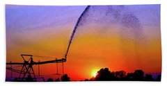 Watercolor Irrigation Sunset 3243 W_2 Bath Towel
