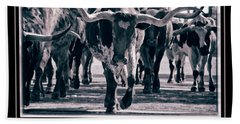 Watercolor Longhorns 2015 Bath Towel