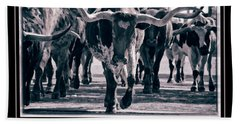 Watercolor Longhorns 2015 Hand Towel